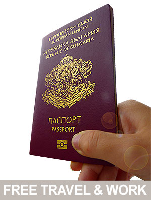 EU Bulgarian passport free travel and work